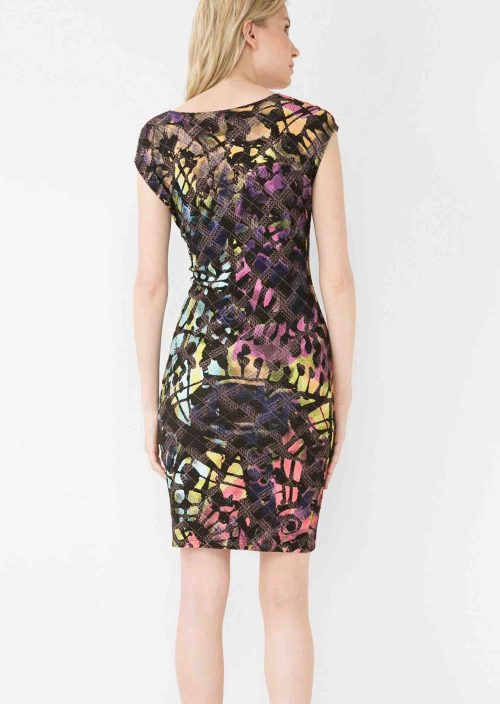 Desigual Lacroix Dress with Asymmetric Neckline