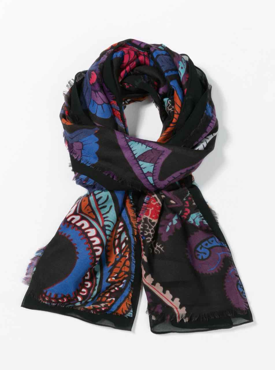 67W54E7_2000 Desigual Scarf Sunset Rectangle Buy Online