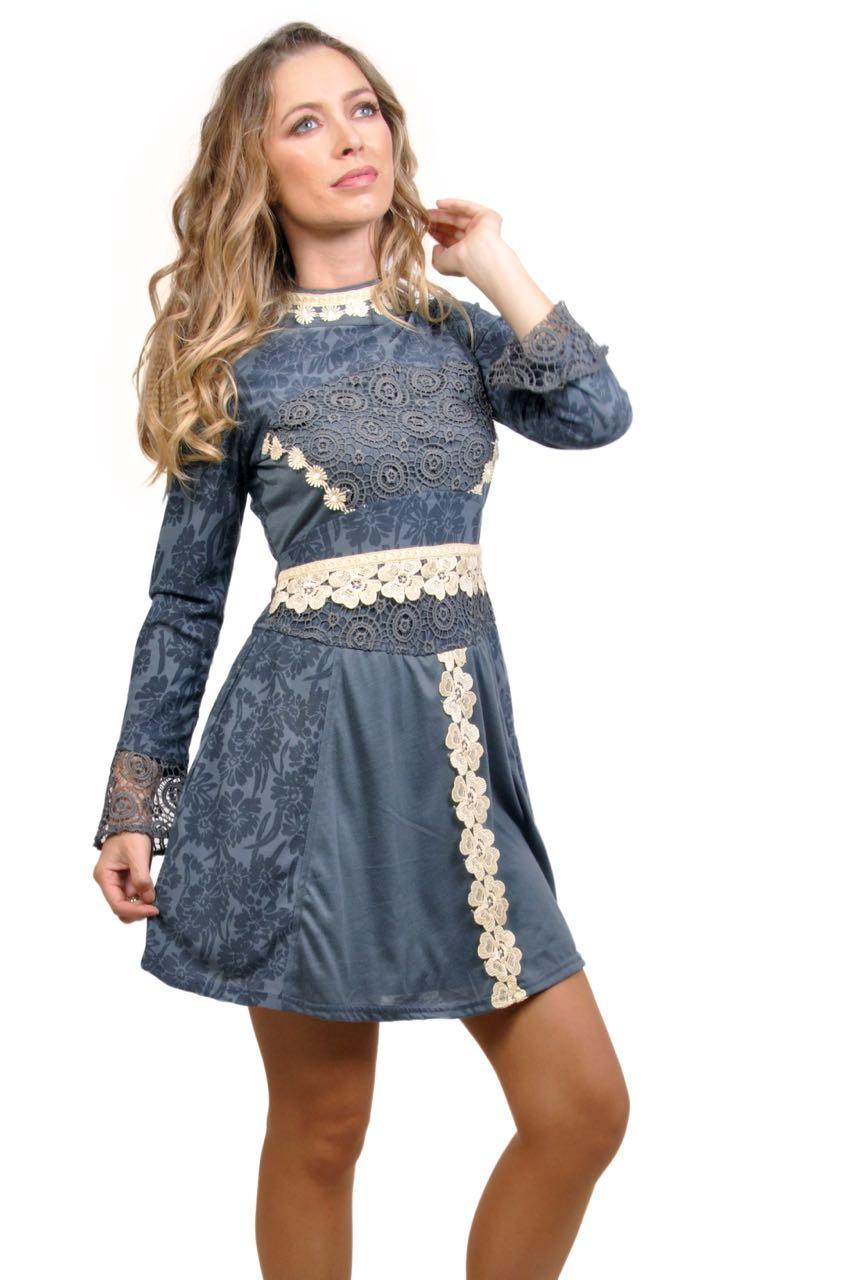 Savage Culture Grey Floral Dress