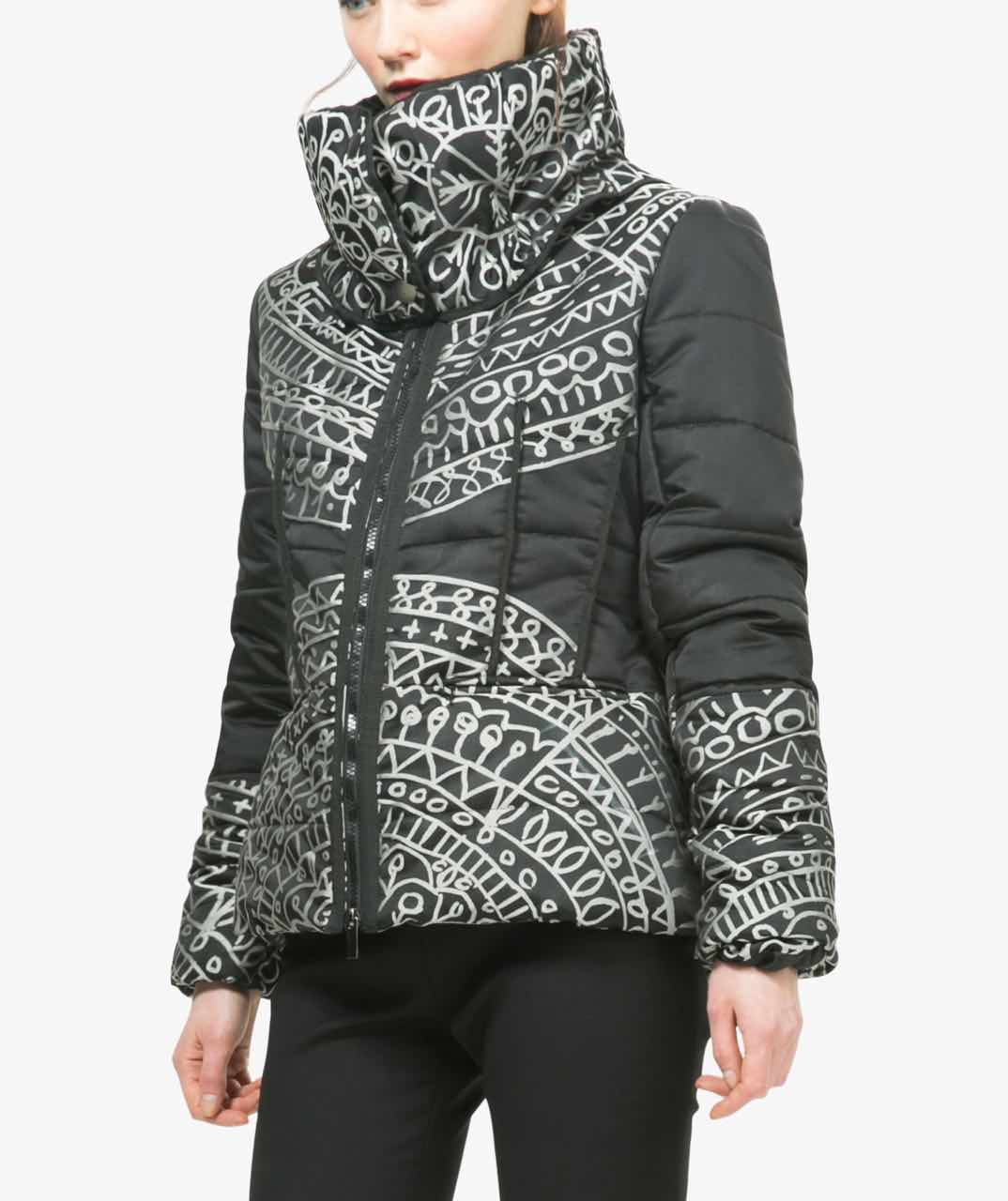 Desigual Lacroix Black Winter Jacket