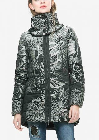 Desigual Lacroix Black Winter Coat, Buy online