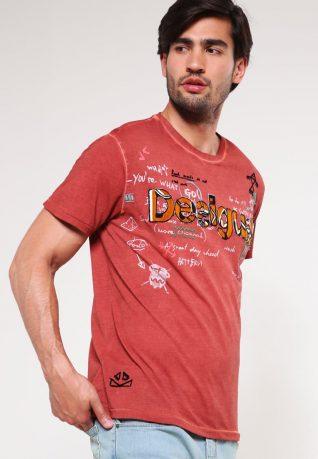 67T14B5_318 -Desigual Men T-Shirt Ancestral