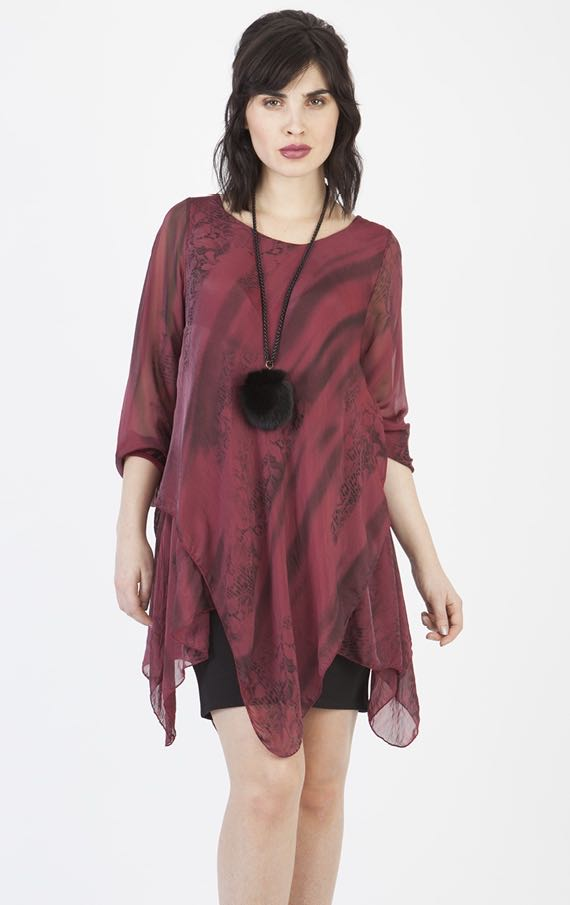 19-1502-M-Made-in-Italy-Burgundy-Tunic Buy online