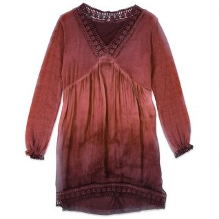 19-8446F M Made in Italy Dress Burgundy. Buy Online