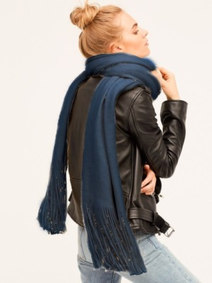 Free People Deep Blue Winter Scarf
