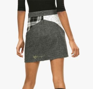 67F27D1 Desigual Patchword Mini Skirt, Fall 2016
