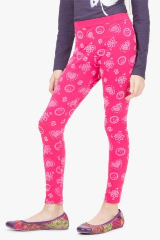 67K33J3_3022-Desigual Girl Legging Cross pink
