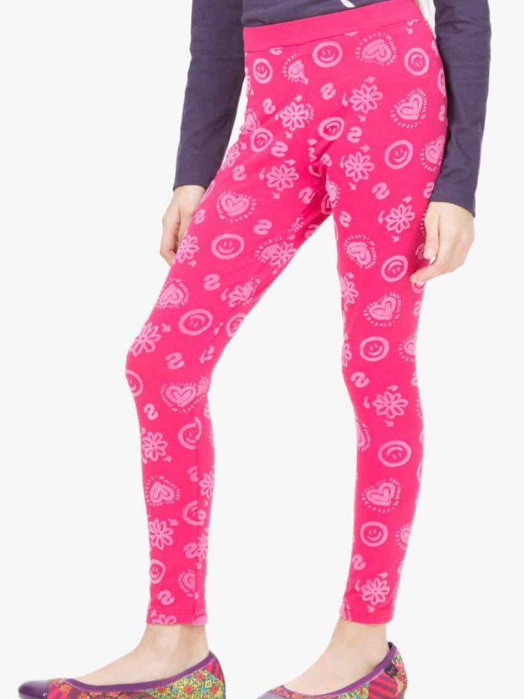 67K33J3_3022-Desigual Girl Legging Cross pink