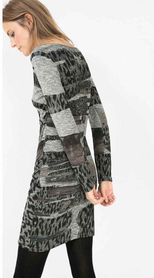 Desigual Rosaura, Grey Knitted Dress