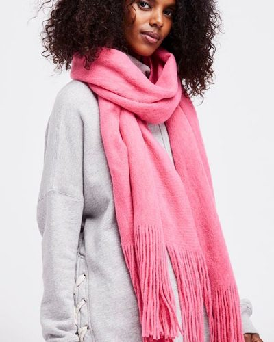 Free People Winter Scarf Pink