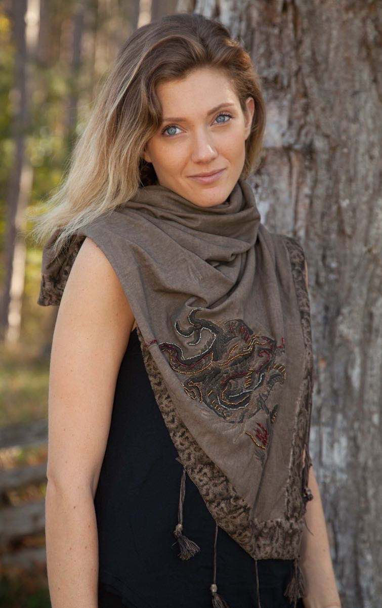 Angels Never Die Brown Scarf