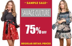 Sample Sale, Fun Fashion Canada, Savage Culture