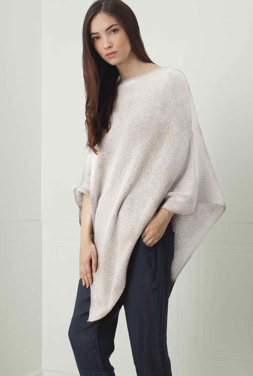 25-2155G M Made in Italy Poncho white