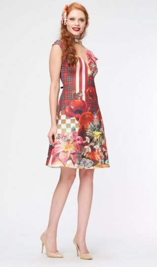 IPNG Design Dress, red and white