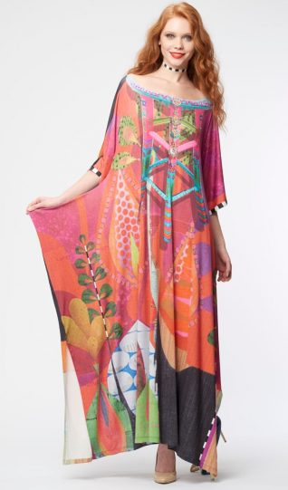 IPNG Design Shawl Long Dress Red
