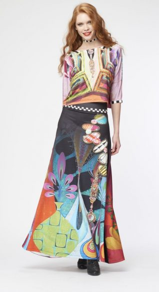 IPNG Design Long Colourful Skirt