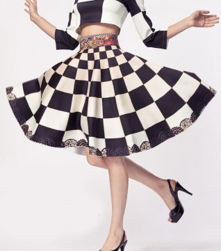 IPNG Blacn and White Skirt, Canada USA