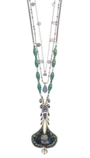 Ayala Bar necklace Turquoise Mist, long
