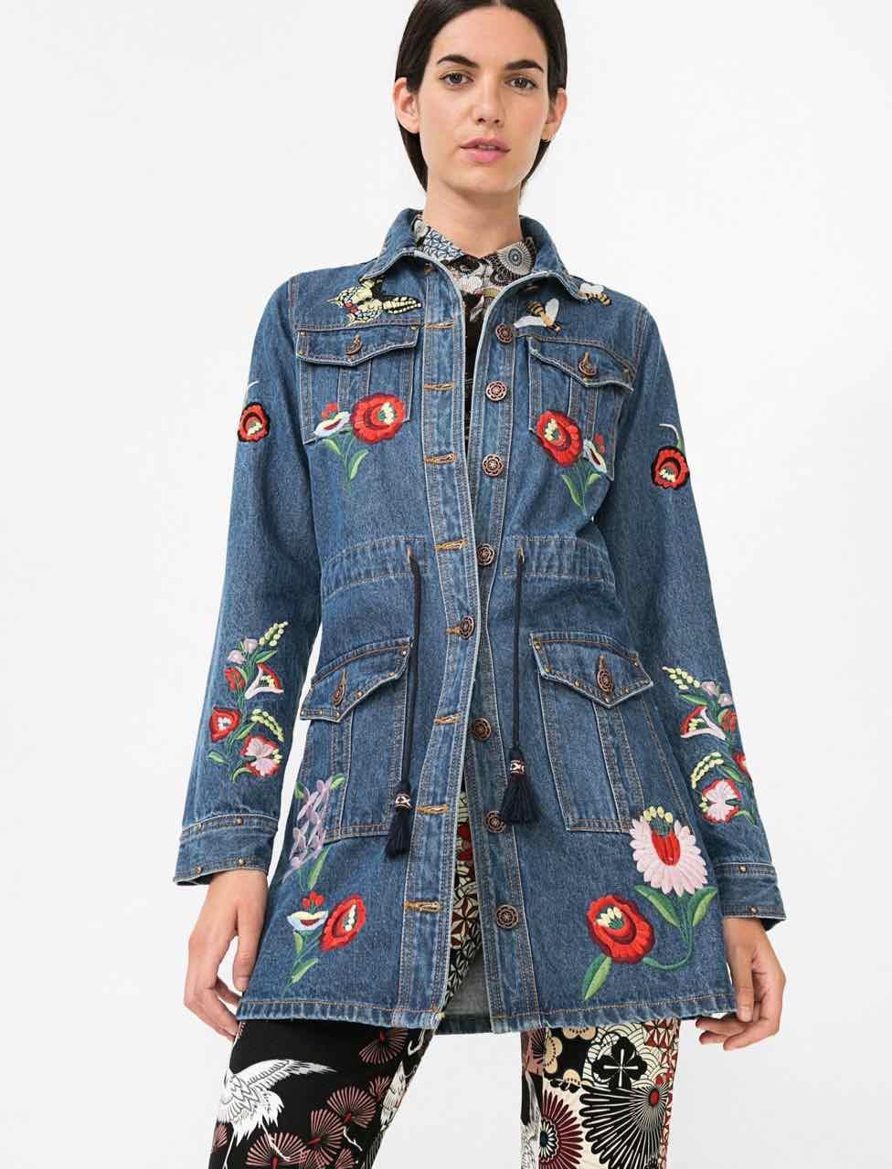3511e87b7cb8 DESIGUAL Denim Jacket LIGHT WASH REP 69E29A2 | Buy Online