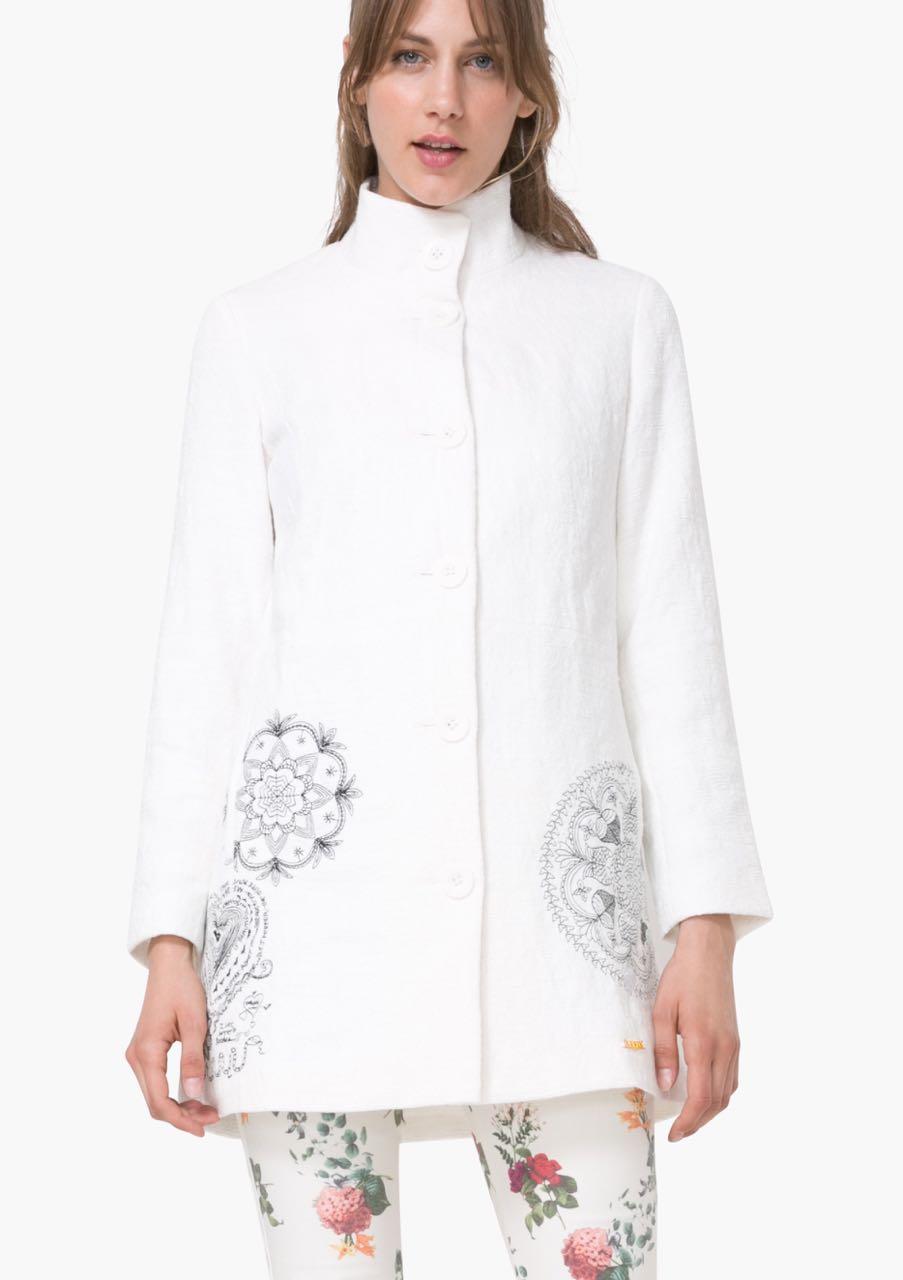 Desigual White Spring Coat