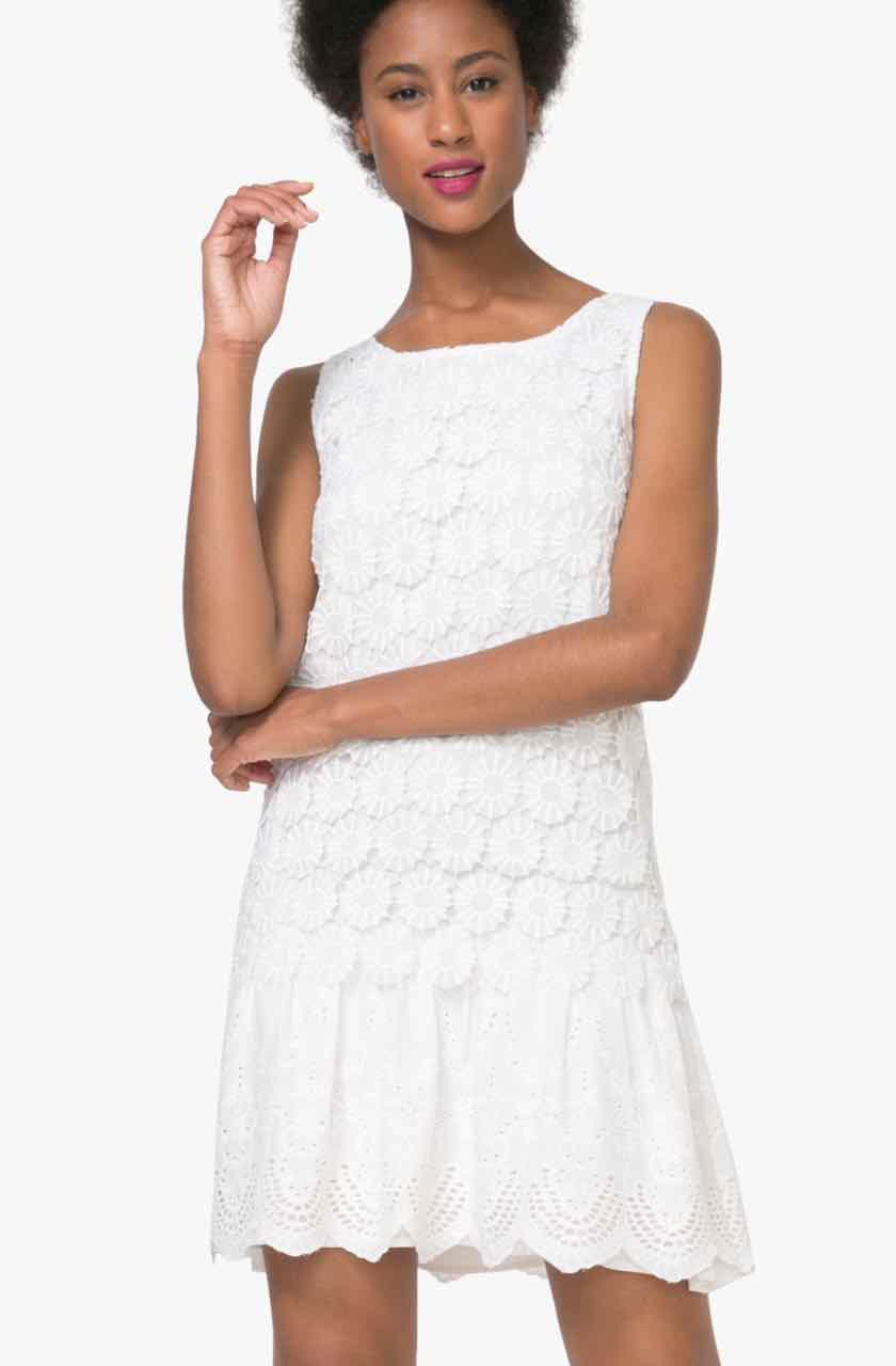 Desigual Lace Dress Barcelona, White