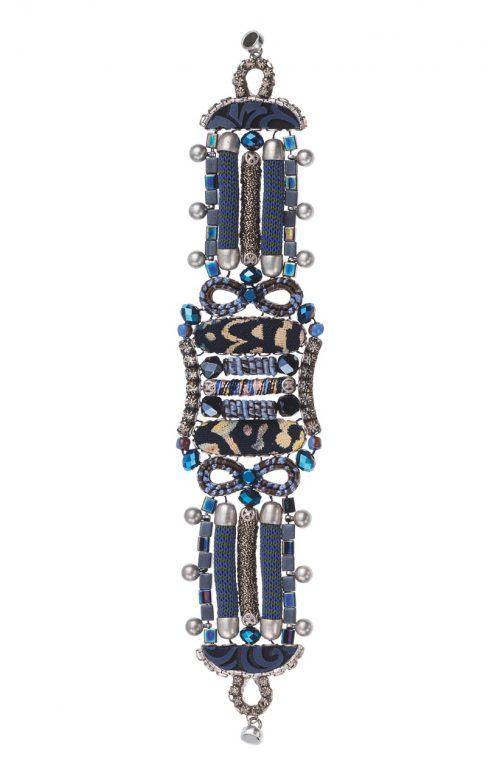 Ayala Bar Hip Black Blue Bracelet