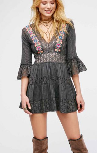 Free people Short Lace Dress, 2017