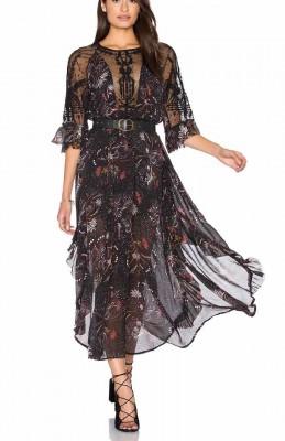 Free people Spirit of the Wild Long Dress, Black