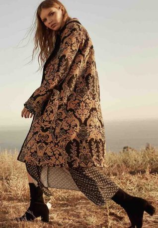 Free People Jacquard Blocked Coat, Canada
