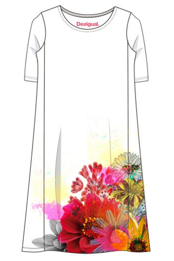 Desigual Dress Mc Luka, White