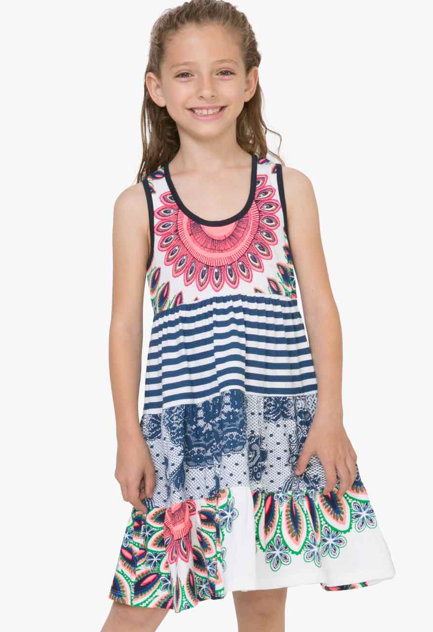 71V32G0_1000 Desigual Girls Dress Boton Buy Online