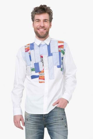 72C12F8_1000 Desigual Men Shirt Timoteo Buy Online