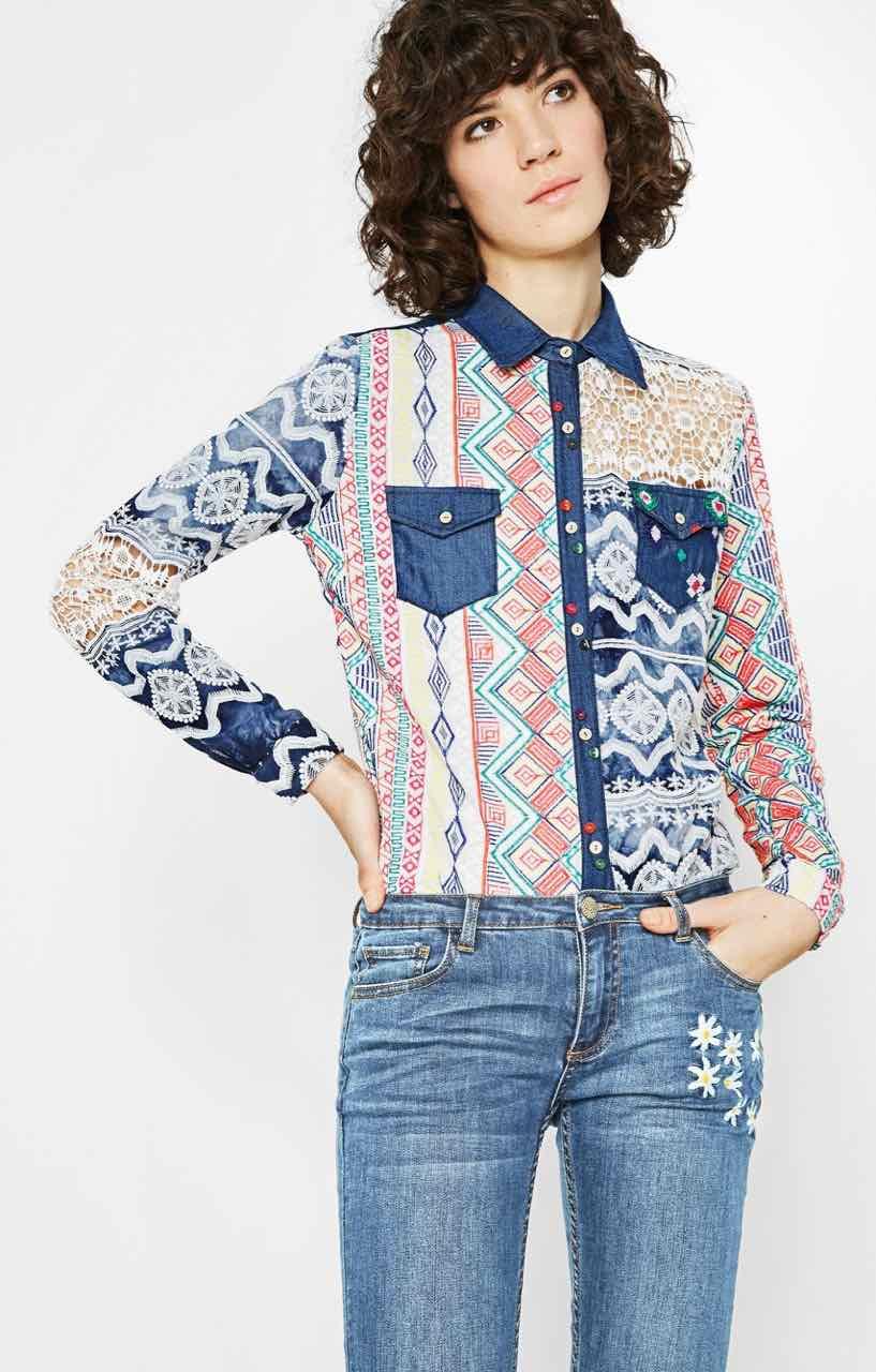 72C2EH7_1000 Desigual Shirt Mauricia Buy Online