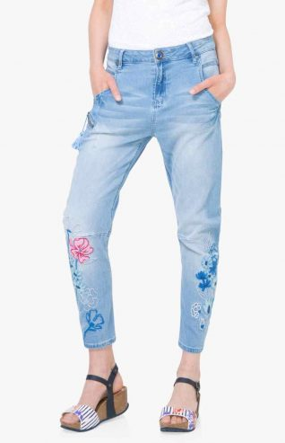 Desigual Jeans with Embroidery on Leg