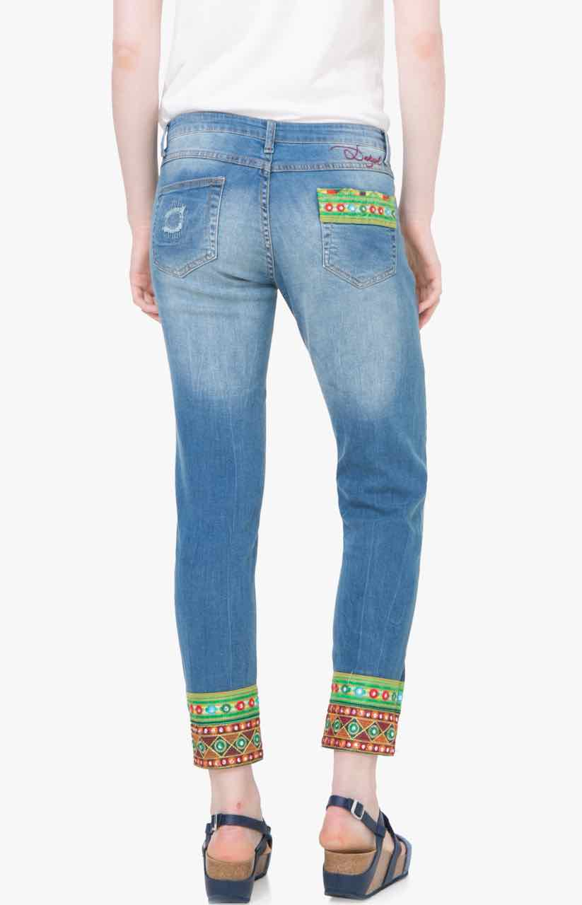 Womens Denim_Ethnic Ankle Skinny Jeans Desigual