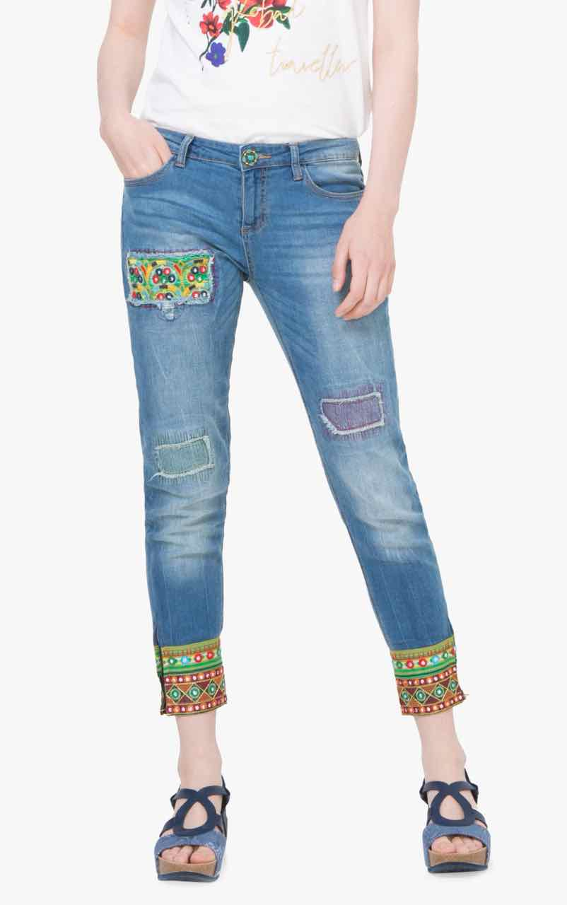 72D2JF4_5160 Desigual Jeans Ethnic Ankle Light Buy Online