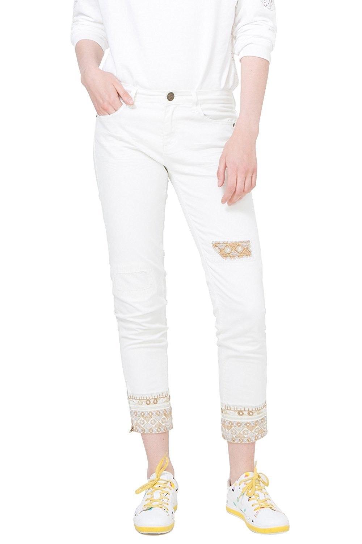 Desigual White Ankle Jeans Dreams 5