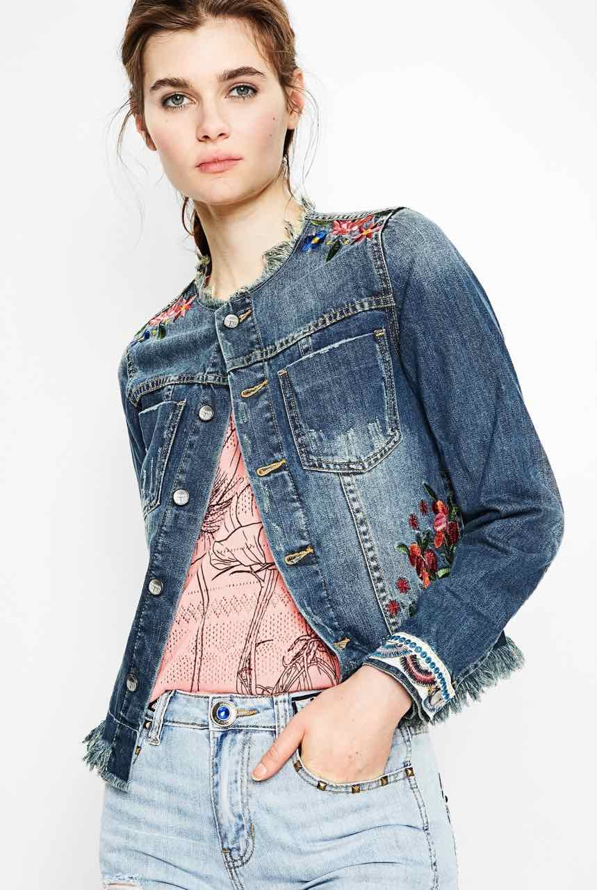 get new united kingdom cheapest DESIGUAL Denim Jacket NOUCOL 72E2JN6 | Buy Online