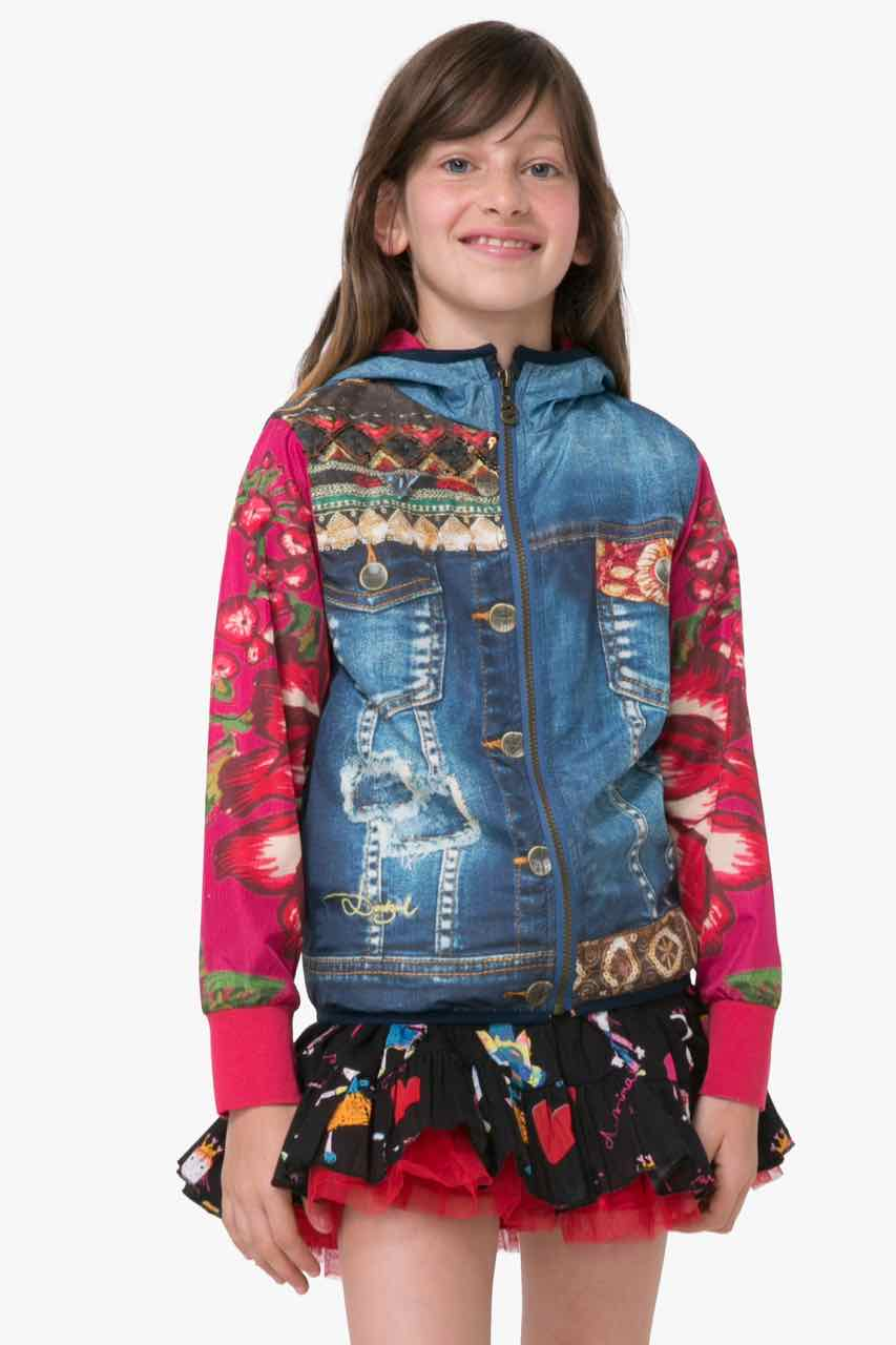 72E34J3_5096 Desigual Denim Jacket Pencas Buy Online
