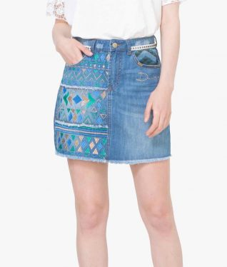 72F2JC5_5007 Desigual Denim Skirt Segovia Buy Online
