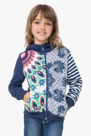72S34B3_5000 Desigual Gurls Reversible Sweater Chauter Buy Online