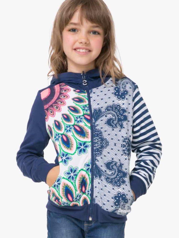 72S34B3_5000 Desigual Gurls Reversible Sweater Chauter Buy Online