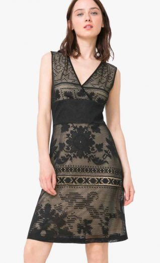 Desigual Dress Elga, Black Lace