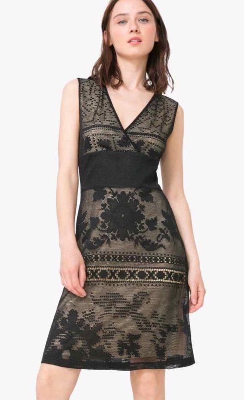 Desigual Dress Elga, Black Lace