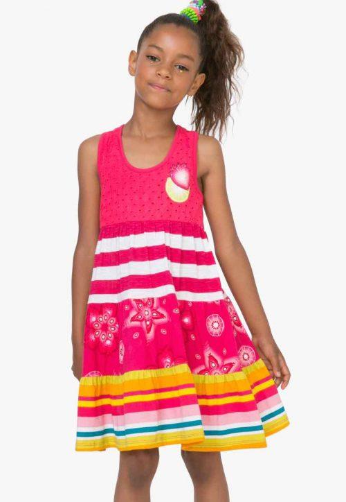 72V32F1_3135 Desigual Girls Dress Kampala (pink) Buy Online