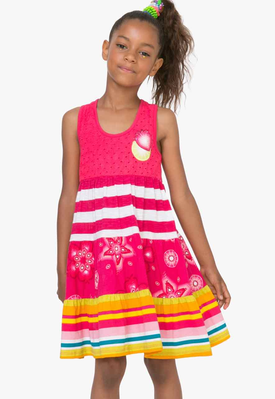 72V32F1_3135 Desigual Girls Dress Kampala (pink) Buy Online