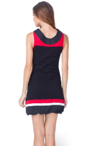 Pygmees Dress Boyaka, Black White, Canada US