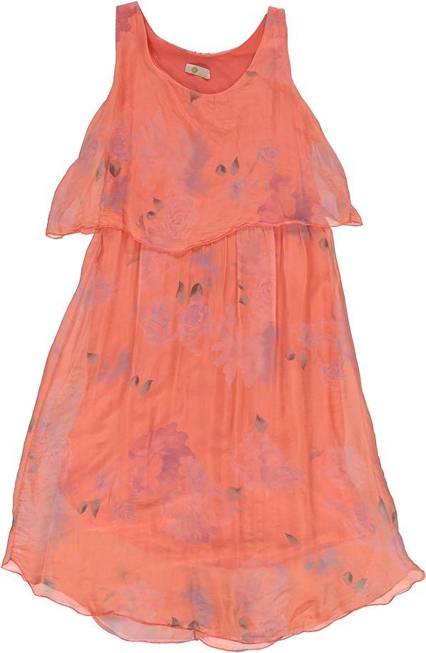 19-3786G M Made in Italy Dress Tangerine Buy Online