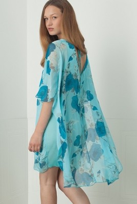 19-5836G M Made in Italy Dress Turquoise Buy Online