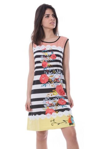 Savage Culture Striped Floral Summer Dress